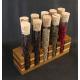 Pepper Sampler with Wooden Test Tube Rack
