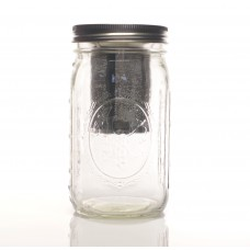 Ginfuser - Mason Jar with Stainless Steel Filter and Lid
