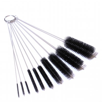 Fine tip pipette cleaning brushes